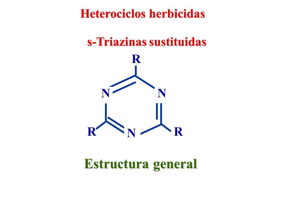 Estructura general Heterociclos herbicidas s-Triazinas sustituidas R N