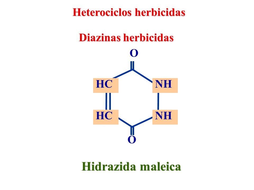 Hidrazida maleica Heterociclos herbicidas Diazinas herbicidas O HC NH