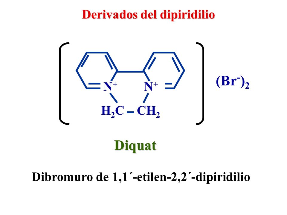 (Br-)2 Diquat Derivados del dipiridilio N+ N+ H2C CH2