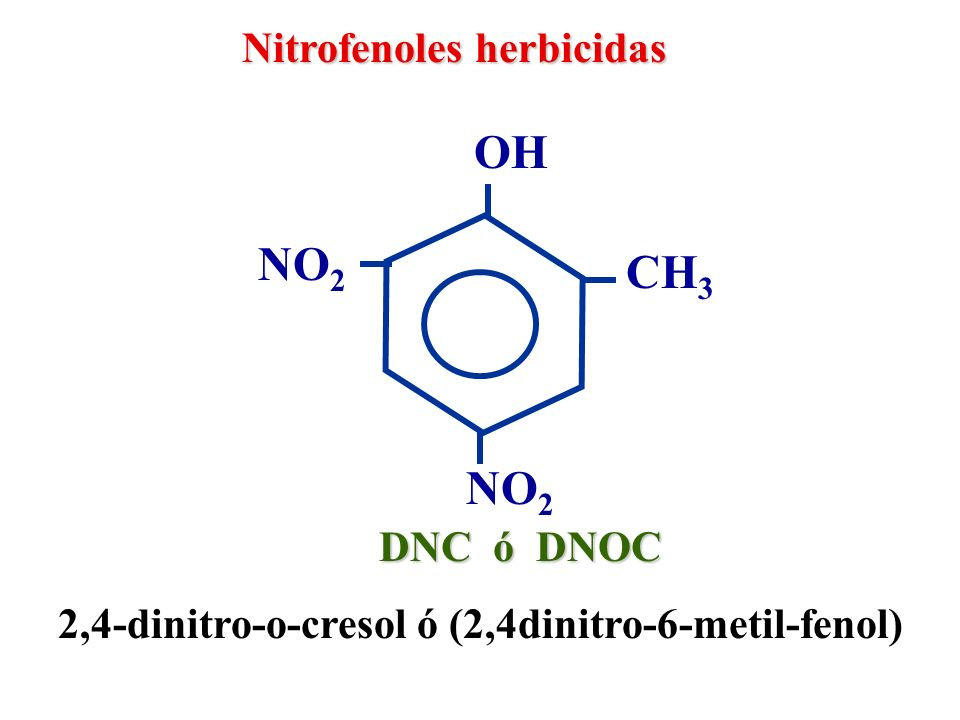 OH NO2 CH3 NO2 Nitrofenoles herbicidas DNC ó DNOC