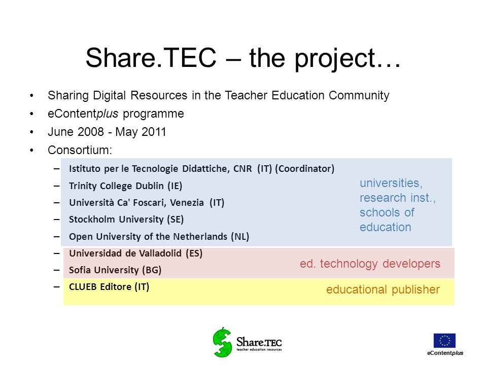 Share.TEC – the project…