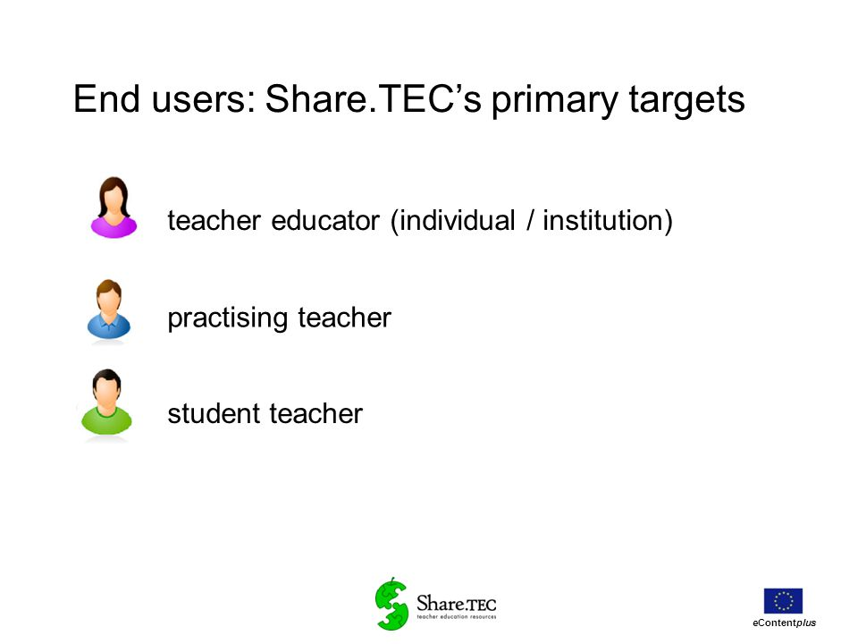 End users: Share.TEC's primary targets