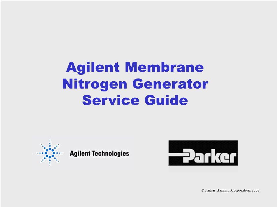 Agilent Membrane Nitrogen Generator Service Guide