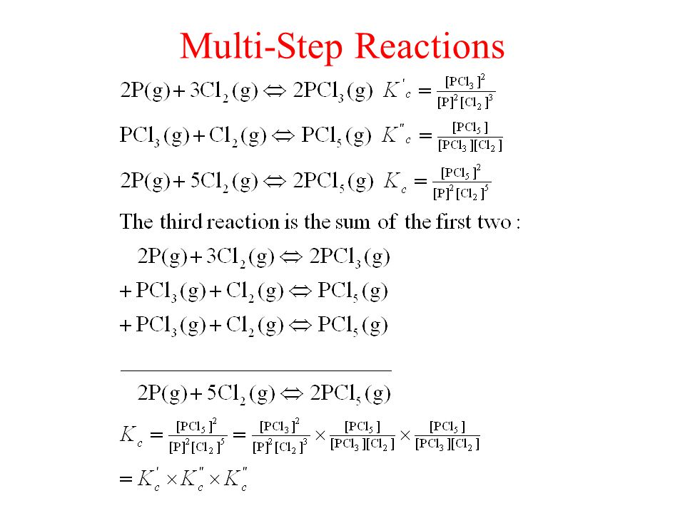 Multi-Step Reactions