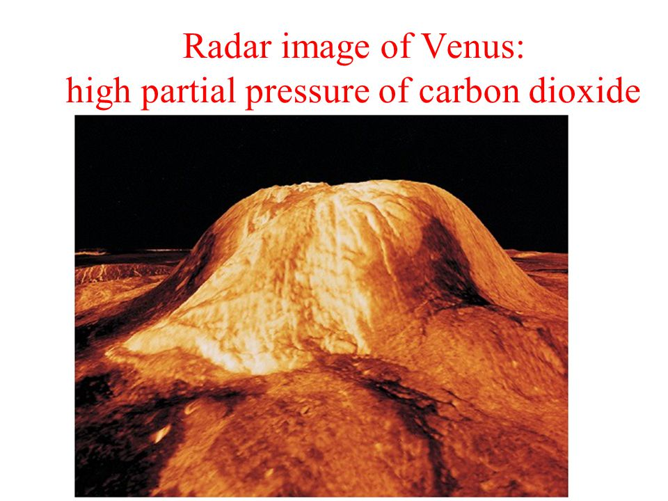 Radar image of Venus: high partial pressure of carbon dioxide