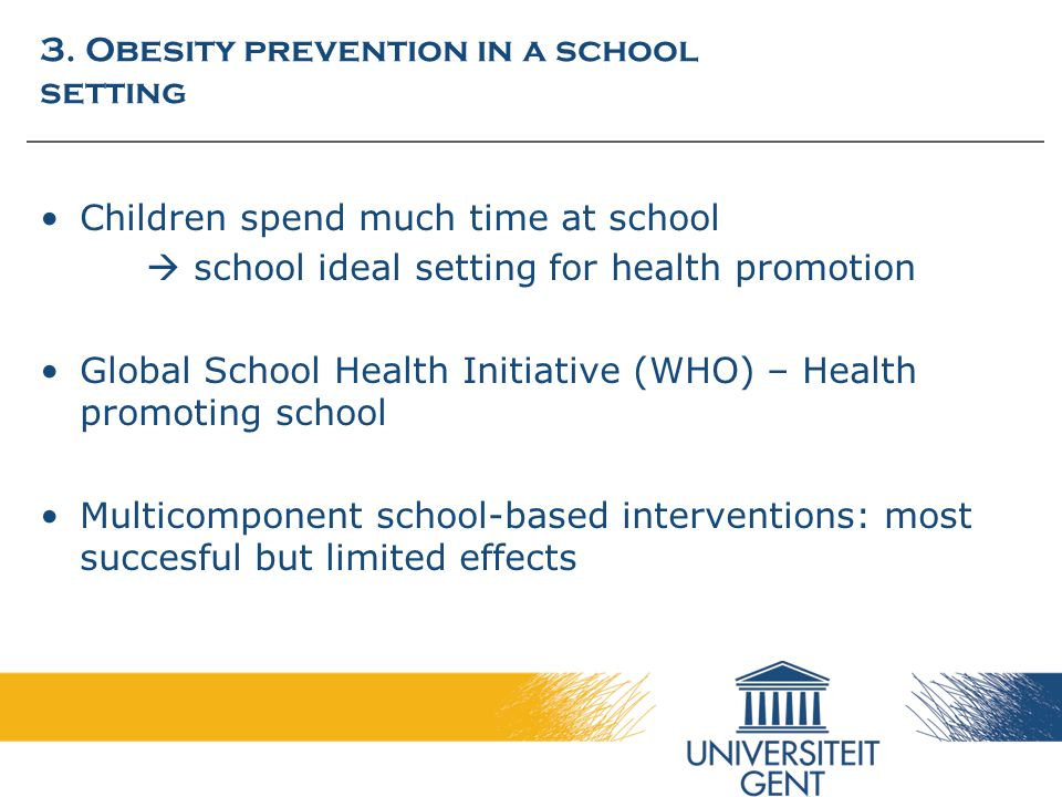 3. Obesity prevention in a school setting