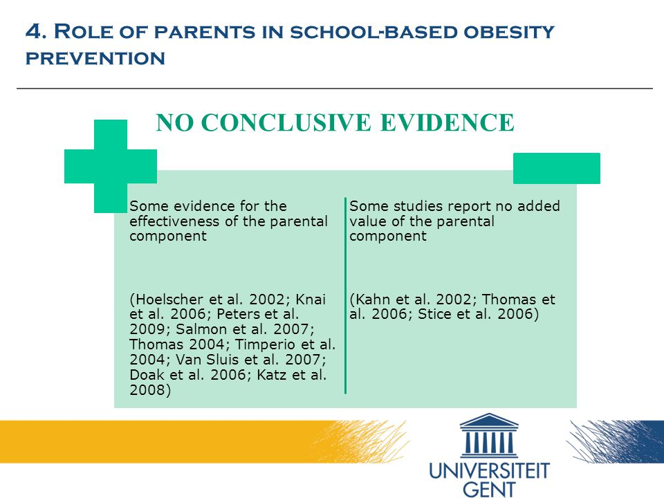 4. Role of parents in school-based obesity prevention