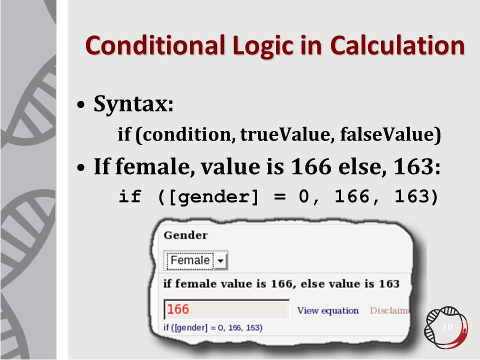 Conditional Logic in Calculation