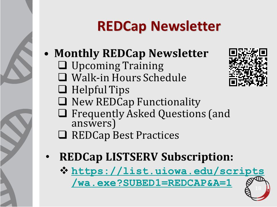REDCap Newsletter Monthly REDCap Newsletter