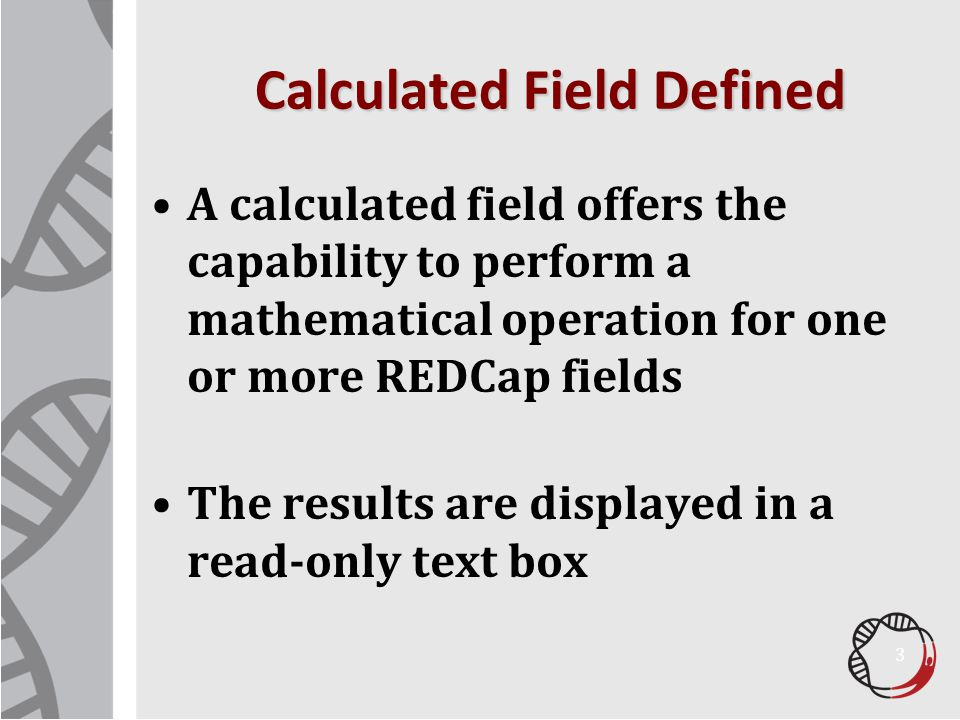 Calculated Field Defined