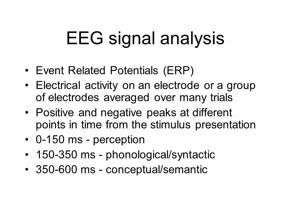 EEG signal analysis Event Related Potentials (ERP)