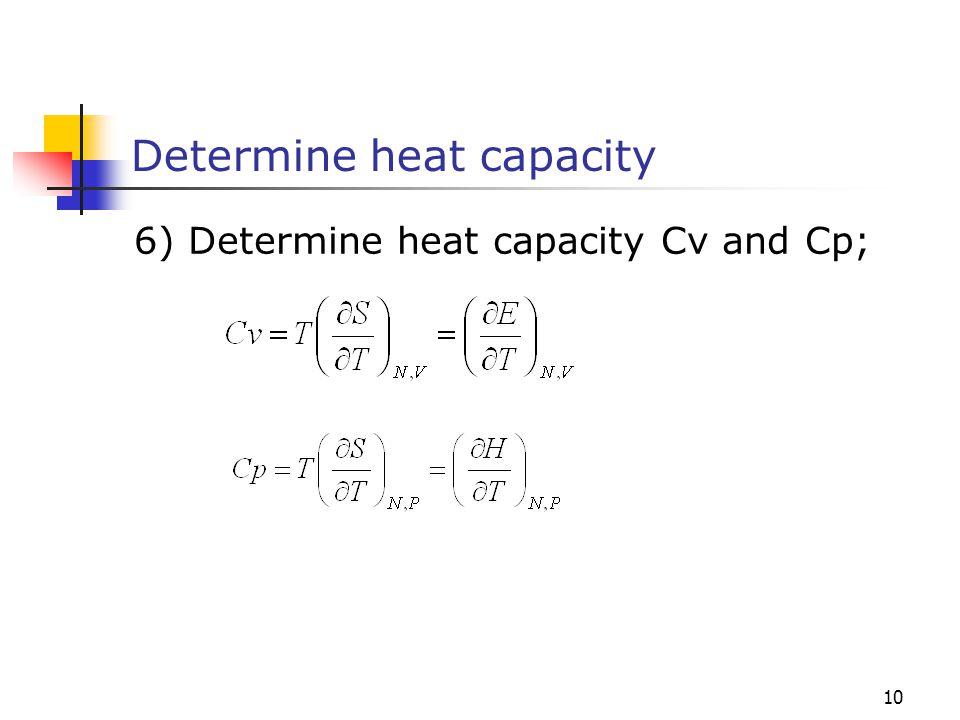 Determine heat capacity