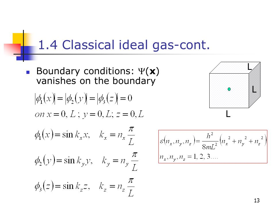 1.4 Classical ideal gas-cont.