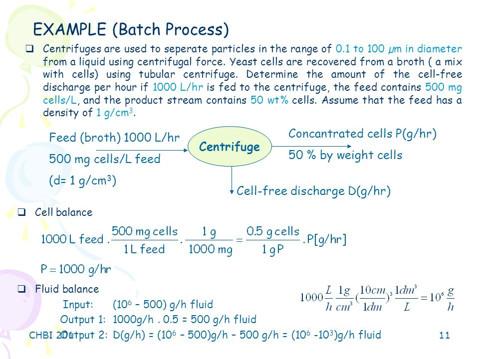 EXAMPLE (Batch Process)