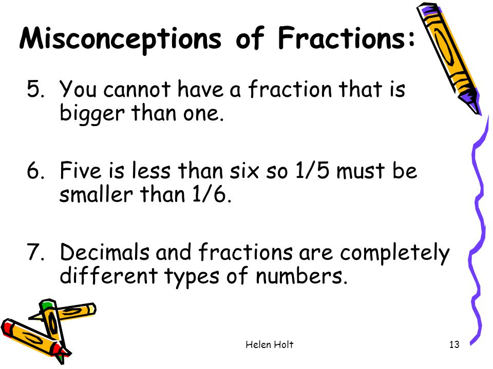 Misconceptions of Fractions: