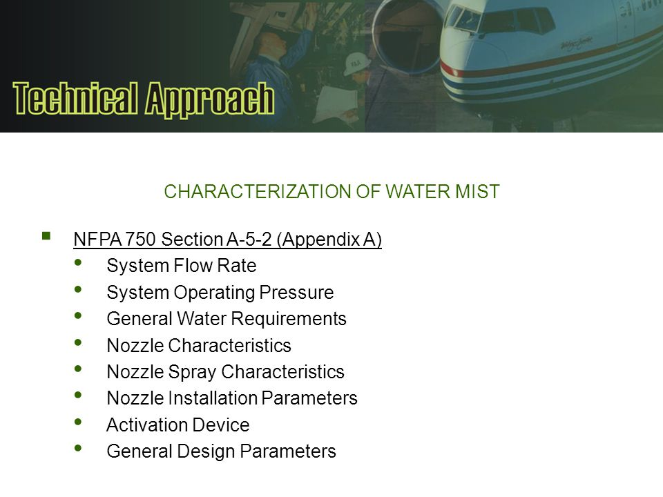 CHARACTERIZATION OF WATER MIST