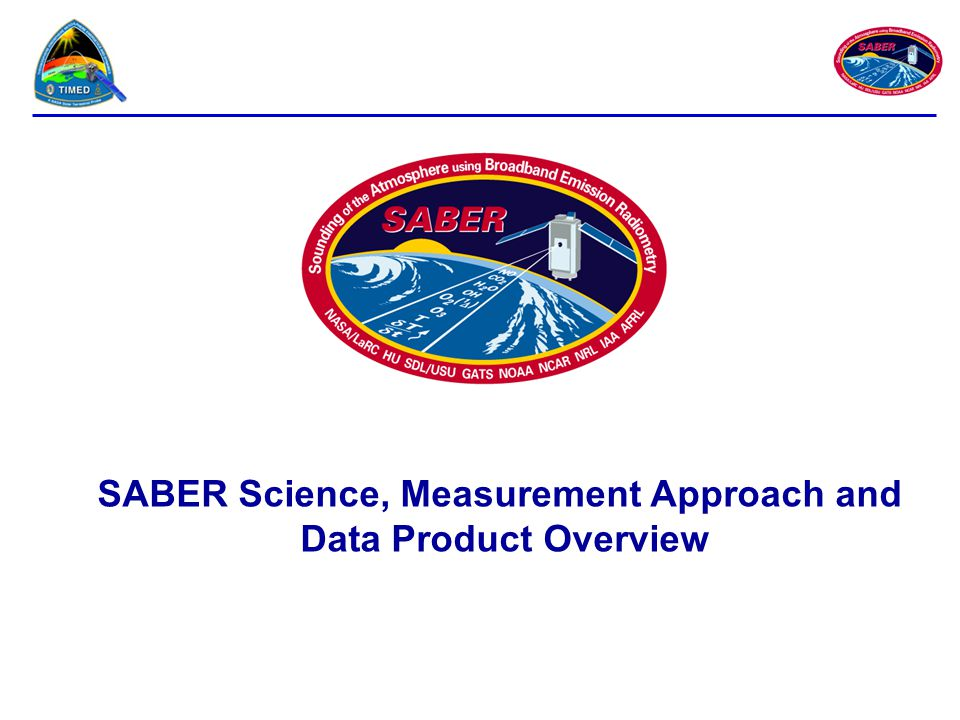 SABER Science, Measurement Approach and