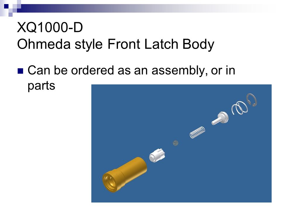 XQ1000-D Ohmeda style Front Latch Body