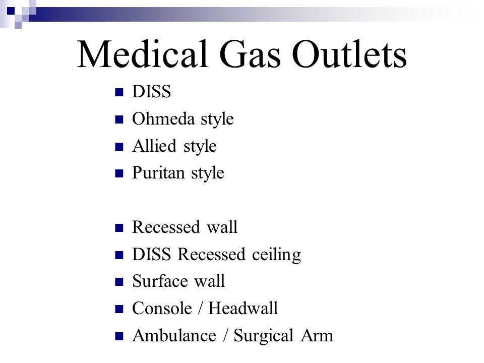 Medical Gas Outlets DISS Ohmeda style Allied style Puritan style