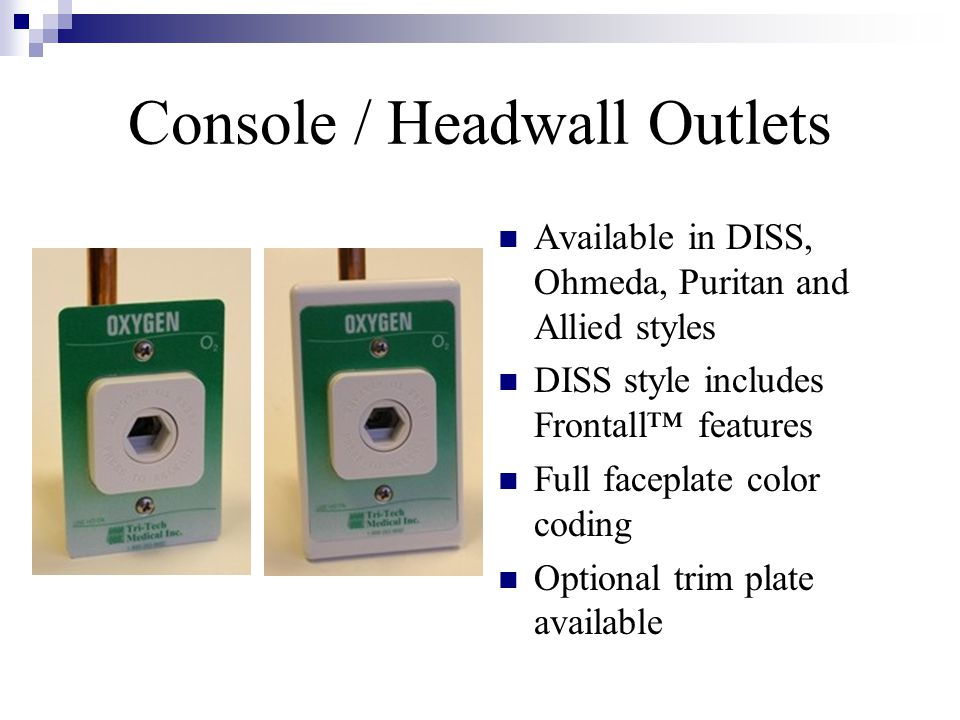 Console / Headwall Outlets