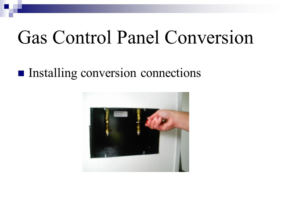 Gas Control Panel Conversion