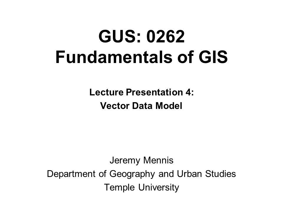 GUS: 0262 Fundamentals of GIS
