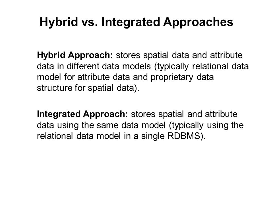Hybrid vs. Integrated Approaches