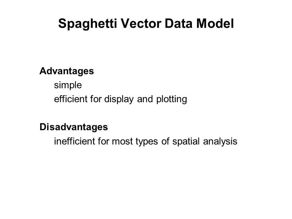 Spaghetti Vector Data Model