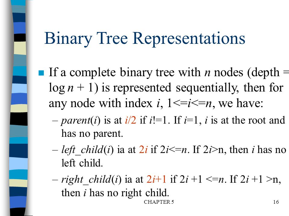 Binary Tree Representations