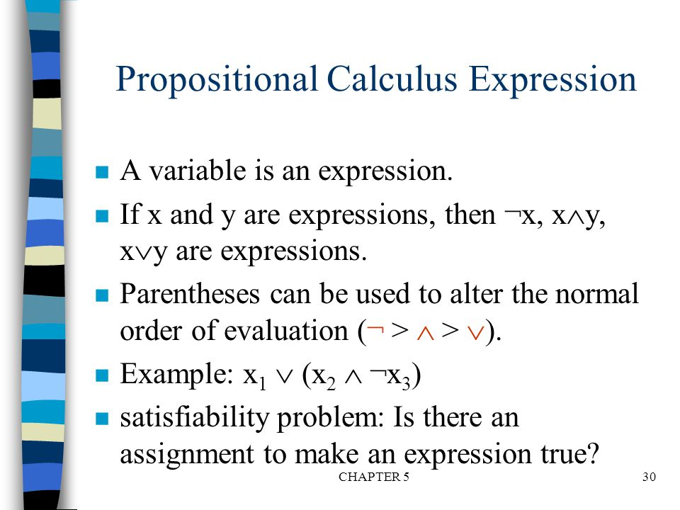 Propositional Calculus Expression