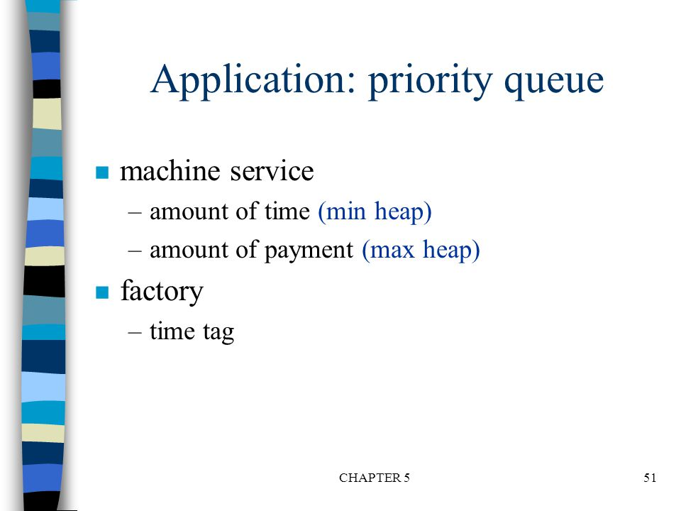 Application: priority queue