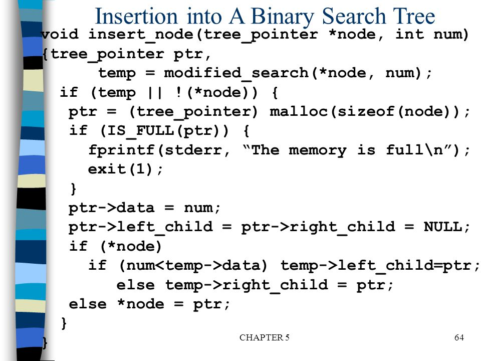 Insertion into A Binary Search Tree