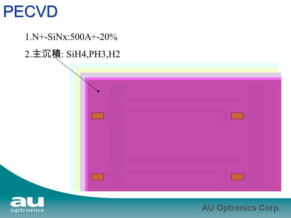 PECVD 1.N+-SiNx:500A+-20% 2.主沉積: SiH4,PH3,H2