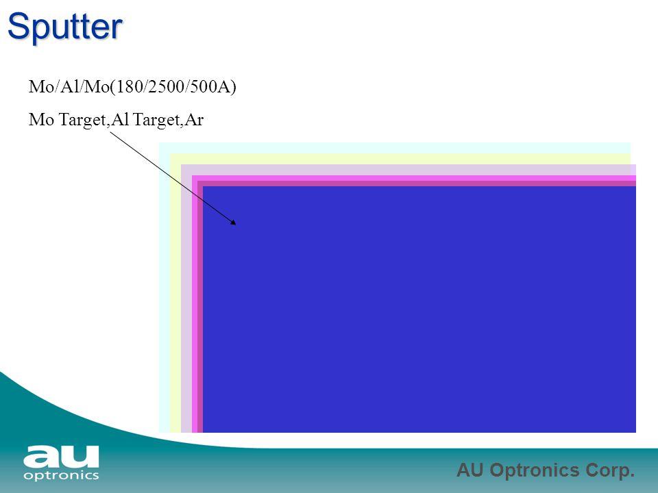 Sputter Mo/Al/Mo(180/2500/500A) Mo Target,Al Target,Ar