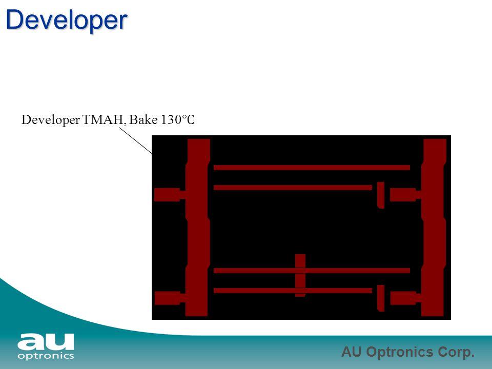 Developer Developer TMAH, Bake 130℃
