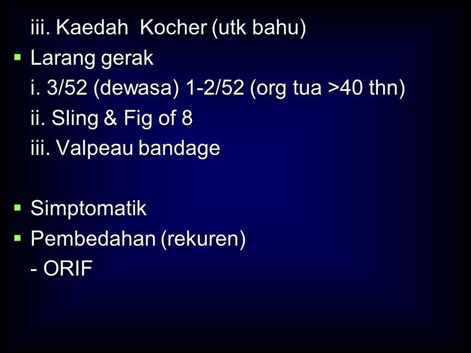 iii. Kaedah Kocher (utk bahu)