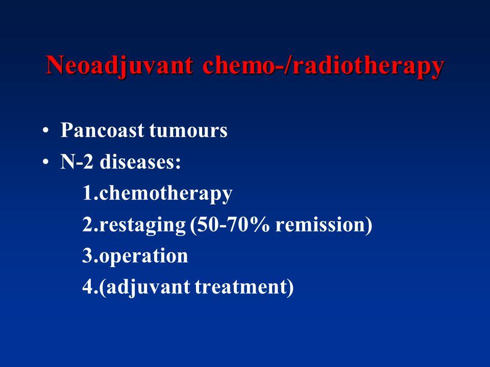Neoadjuvant chemo-/radiotherapy