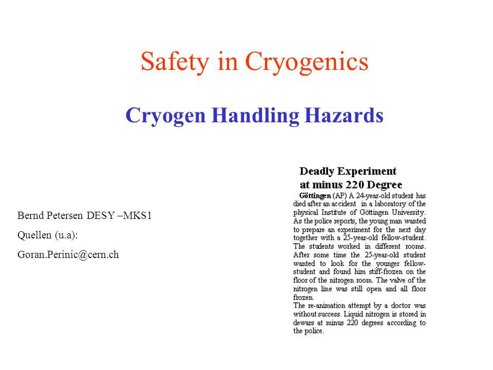 Cryogen Handling Hazards