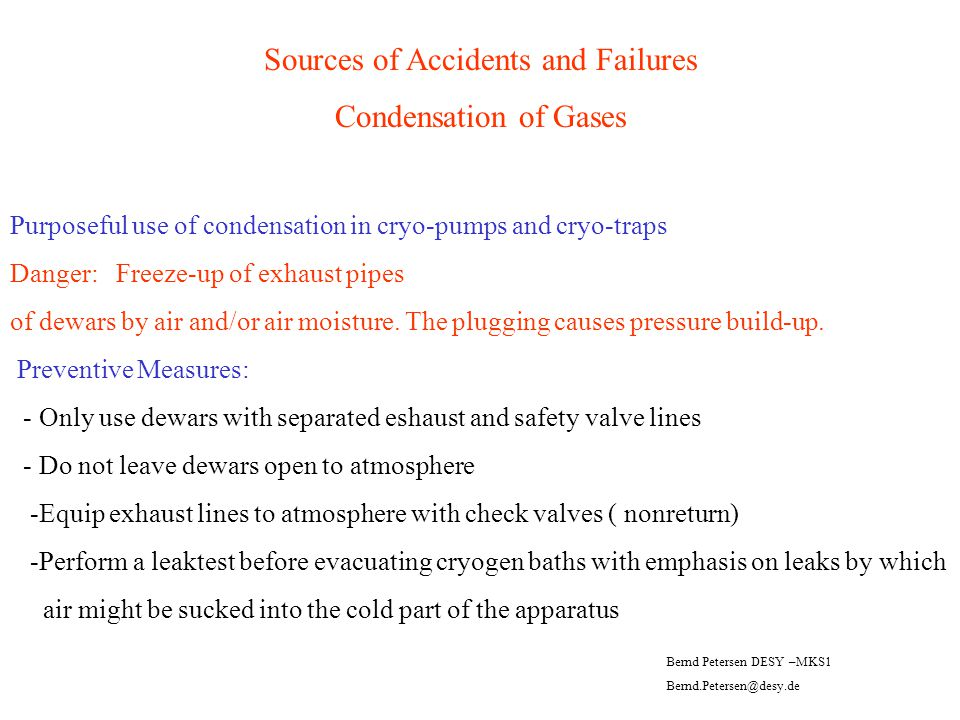 Sources of Accidents and Failures