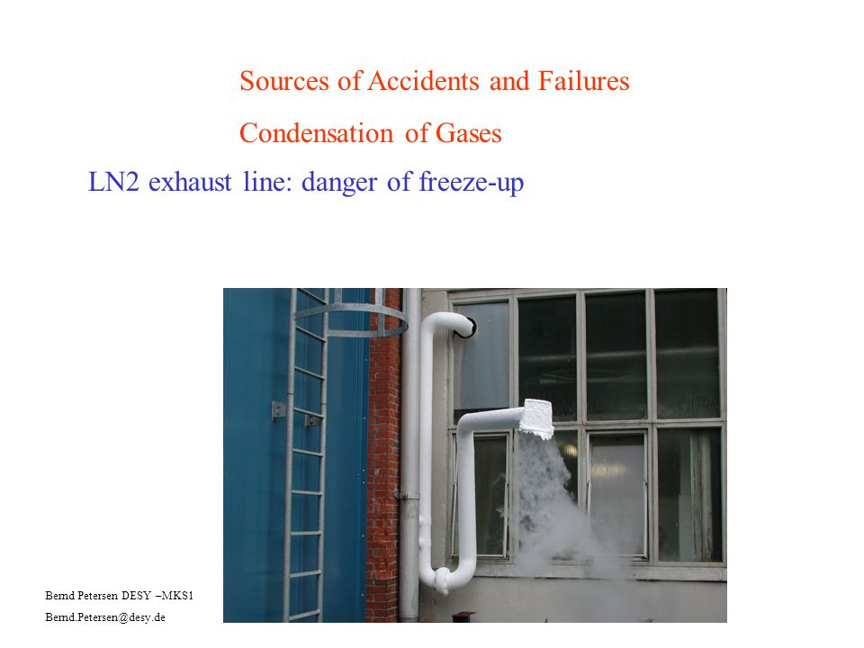 Sources of Accidents and Failures Condensation of Gases