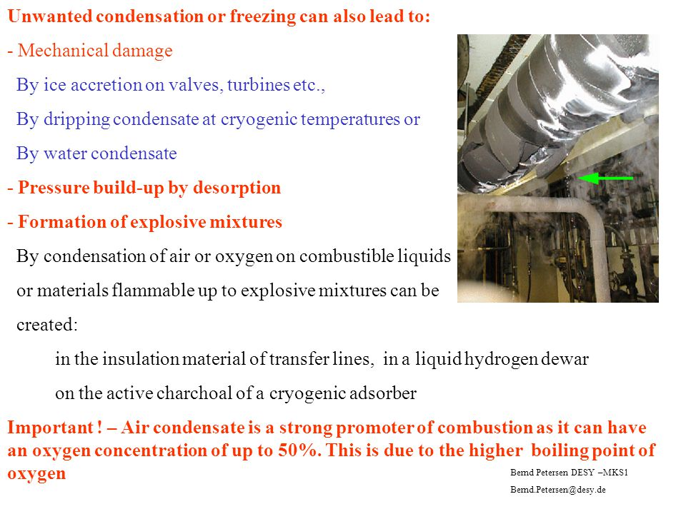 Unwanted condensation or freezing can also lead to: