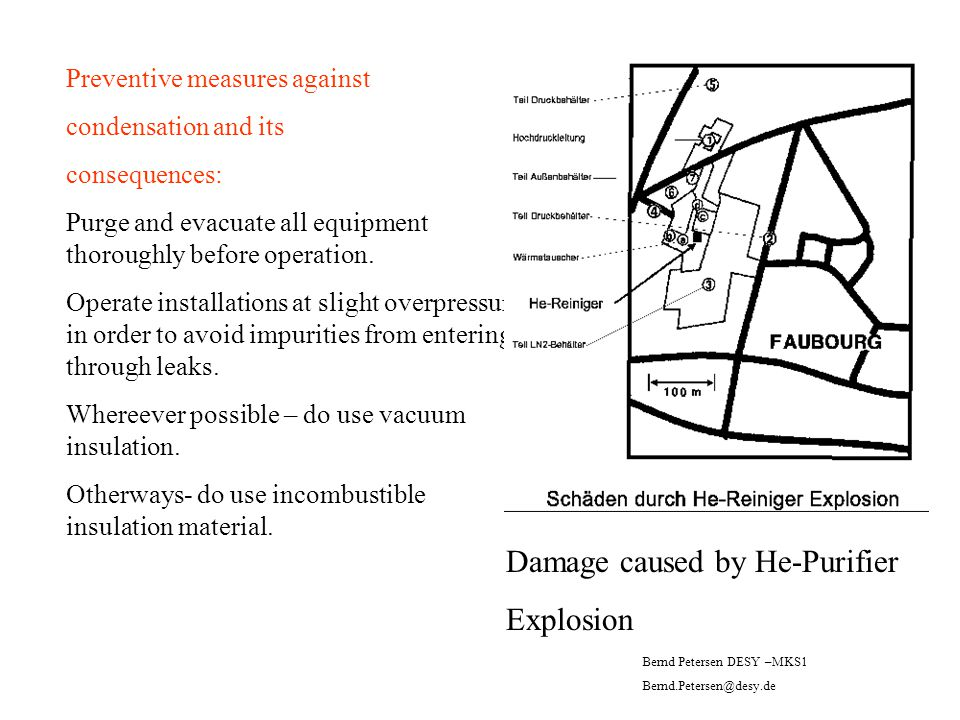 Damage caused by He-Purifier Explosion