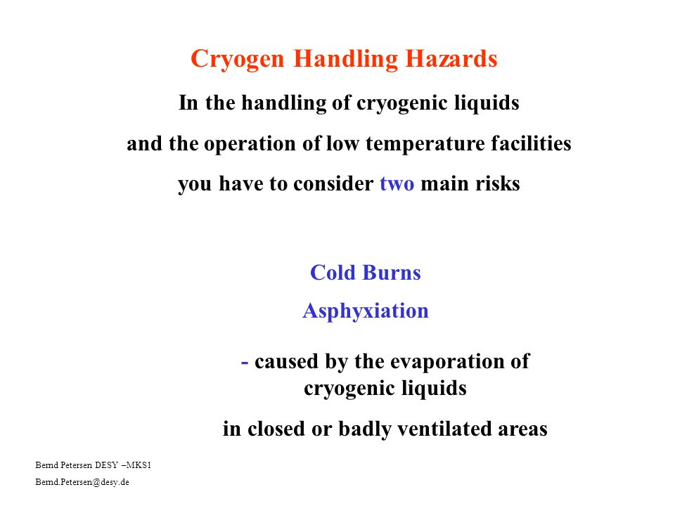 In the handling of cryogenic liquids