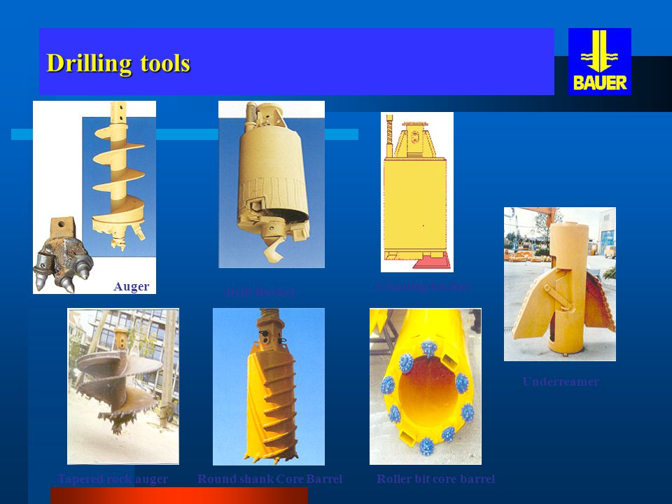 Drilling tools Auger Cleaning bucket Drill Bucket Underreamer