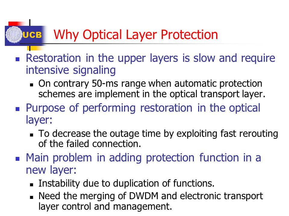 Why Optical Layer Protection