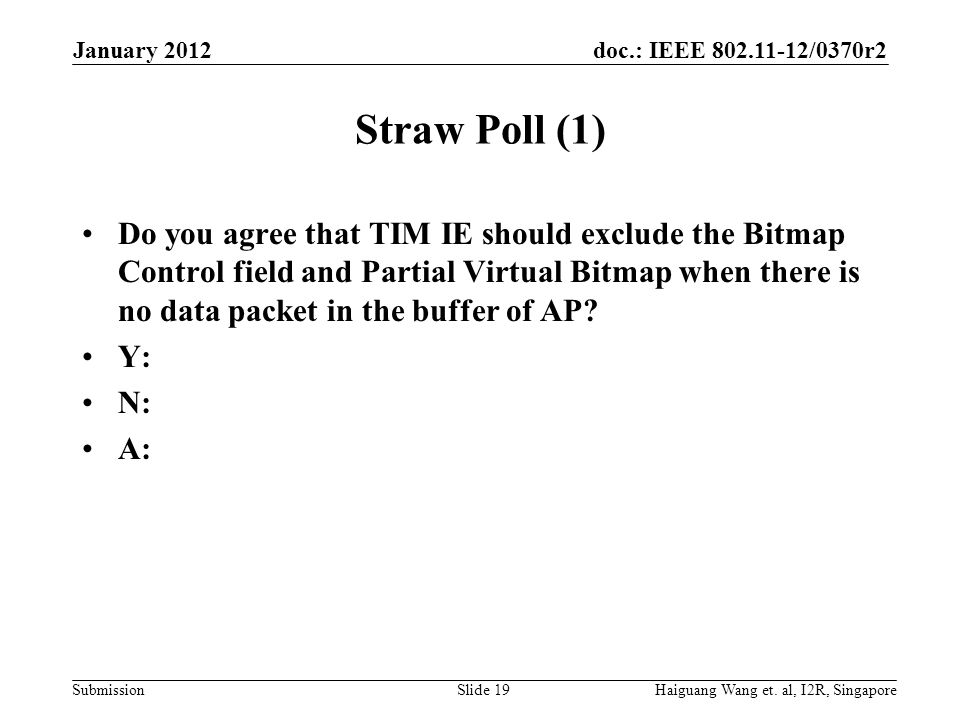 January 2012 Straw Poll (1)