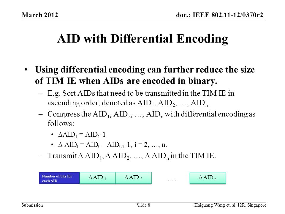 AID with Differential Encoding