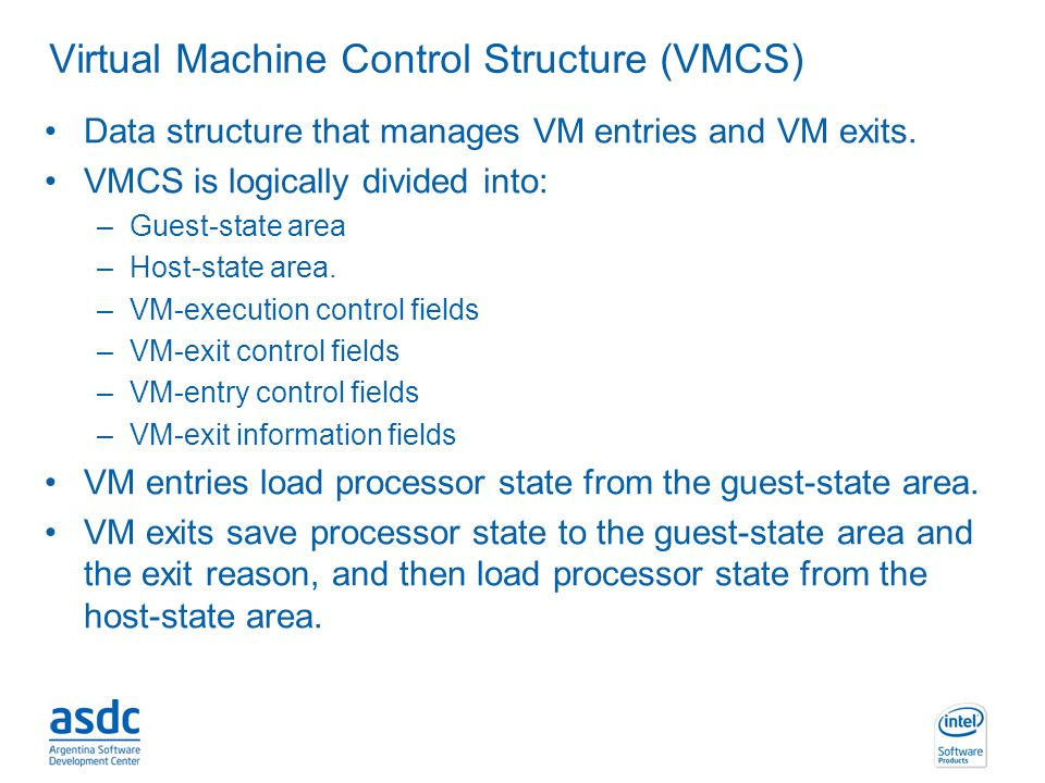 Virtual Machine Control Structure (VMCS)