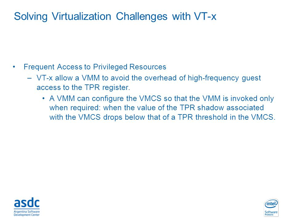 Solving Virtualization Challenges with VT-x