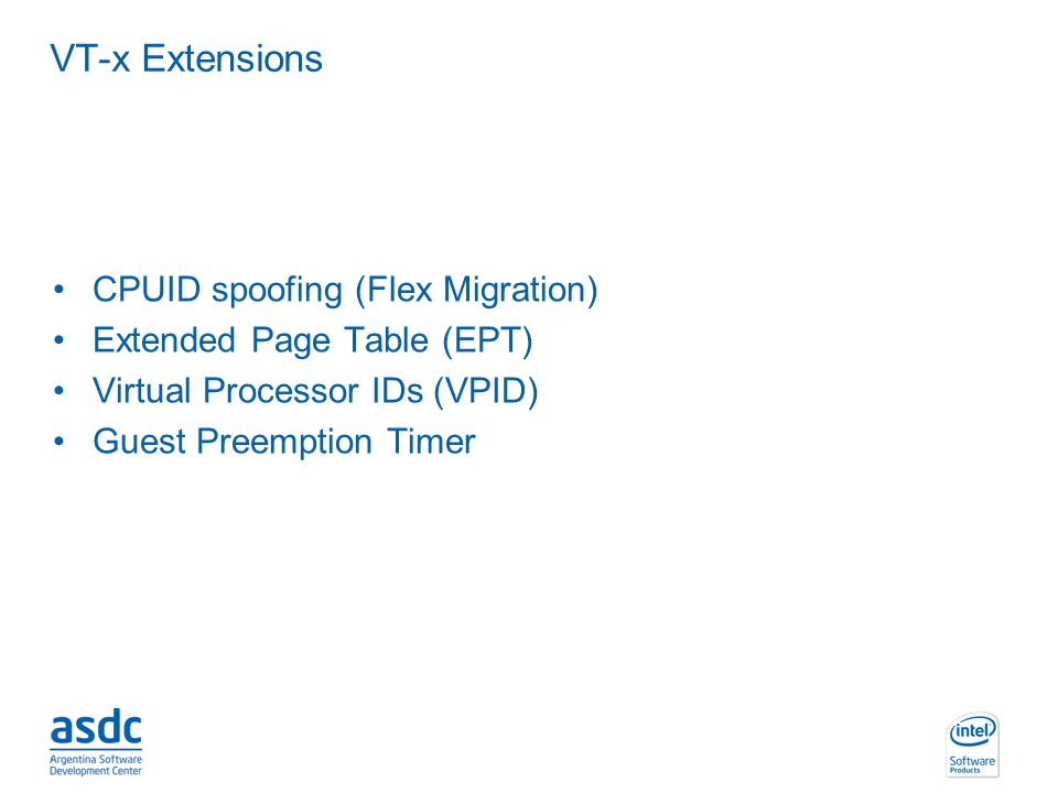 VT-x Extensions CPUID spoofing (Flex Migration)